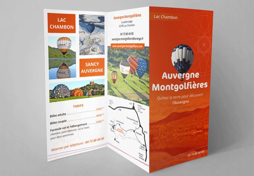 Connu Dépliants Auvergne Montgolfières - GA | MEDIA CH71