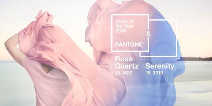 Pantone - Couleur de l'année 2016 - Rose Quartz et Serenity